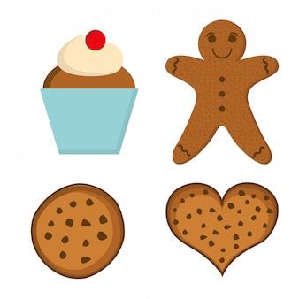 Diseño de panadería sobre fondo blanco ilustración vectorial