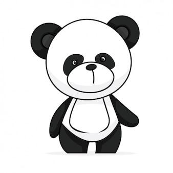 Diseño de panda pintado a mano