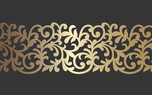 Diseño de panel de corte por láser. plantilla de borde de vector vintage adornado para corte por láser, vidrieras, grabado de vidrio, arenado, talla de madera, fabricación de tarjetas, invitaciones de boda.