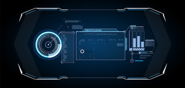 Diseño de pantalla de interfaz futurista vector hud.