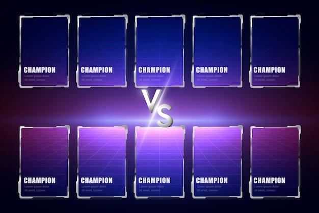 Diseño de pantalla del juego moba 5vs5