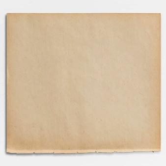 Diseño de papel marrón en blanco
