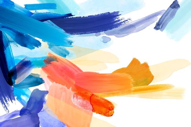 Diseño de papel pintado pintado a mano abstracto