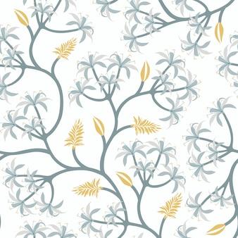 Diseño de papel pintado de la rama de la planta de la naturaleza