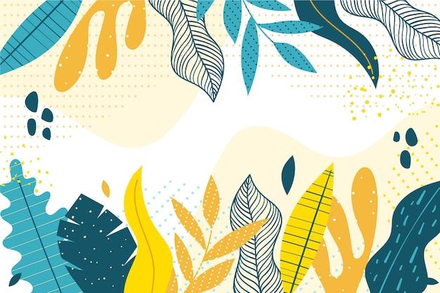 Diseño de papel tapiz floral de diseño plano