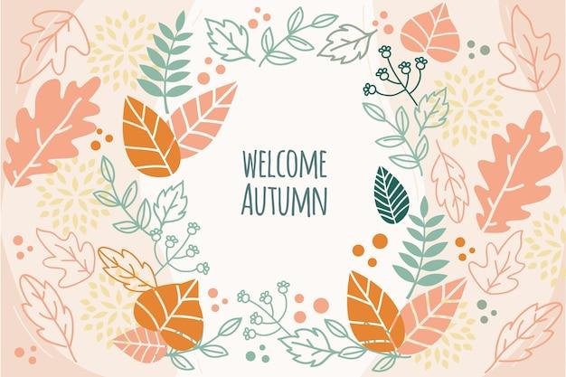Diseño de papel tapiz de otoño