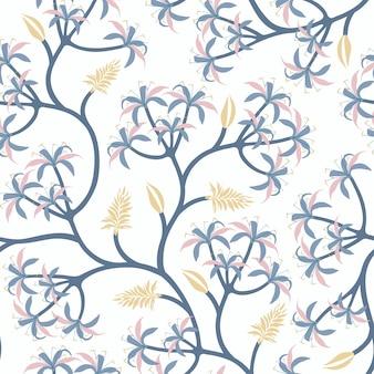 Diseño de papel tapiz de rama de planta