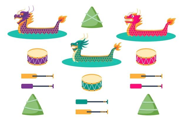 Diseño de paquete de bote de dragón