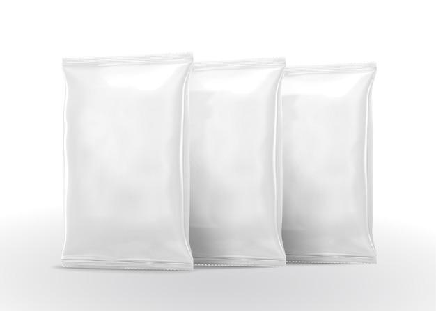 Diseño de paquete de chips en blanco