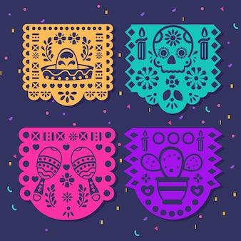 Diseño de paquete de empavesado mexicano