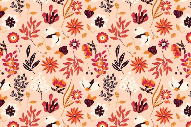 Diseño de paquete de estampado floral
