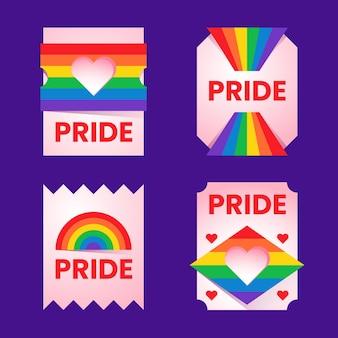 Diseño del paquete de etiquetas del día del orgullo