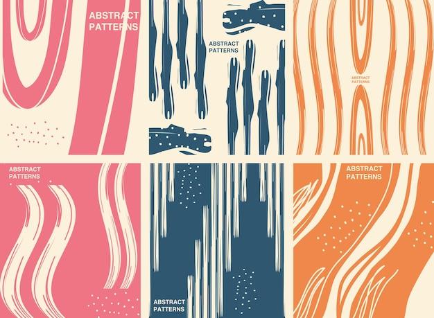 Diseño de paquete de iconos de fondos de patrón abstracto, tema de arte y papel tapiz