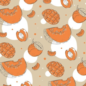 Diseño de paquete de patrones de frutas