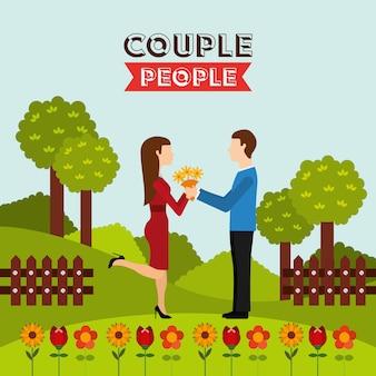 Diseño de pareja de personas
