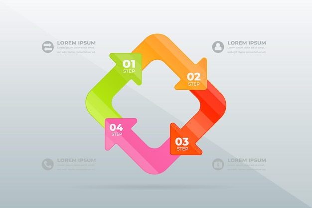 Diseño de pasos profesionales modernos
