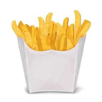 Diseño de patatas fritas a color