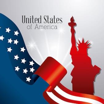 Diseño del patriotismo de estados unidos.