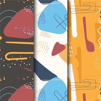 Diseño de patrón abstracto dibujado a mano