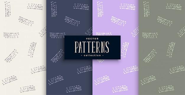 Diseño de patrón abstracto en estilo de línea doodle