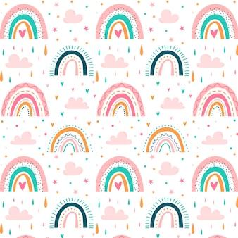 Diseño de patrón de arco iris vector gratuito