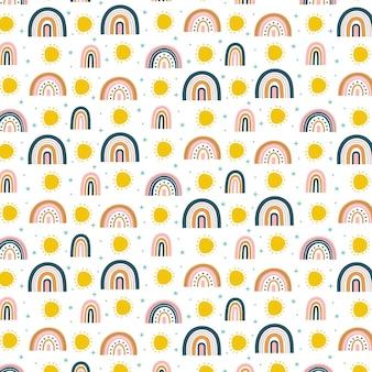 Diseño de patrón de arco iris