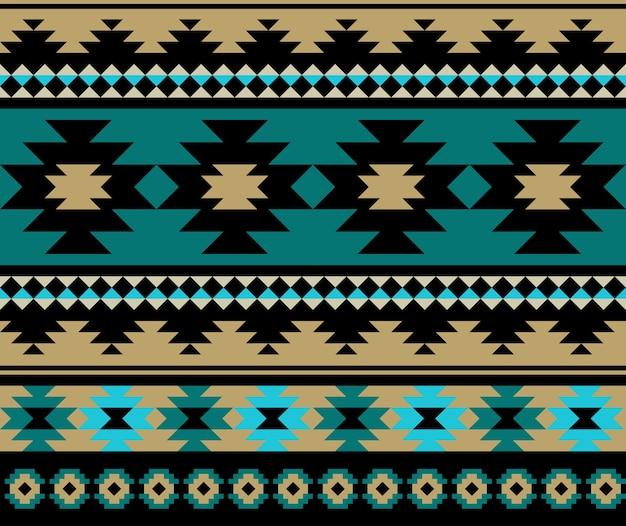 Diseño de patrón azteca étnica sin fisuras.
