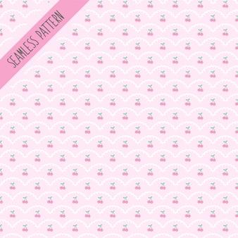 Diseño de patrón de cerezas