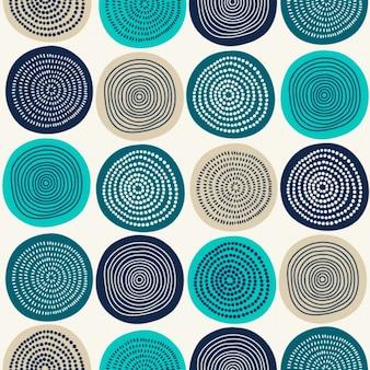 Diseño de patrón de círculos abstractos