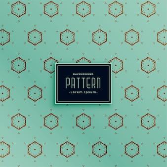 Diseño de patrón clásico de estilo de forma hexagonal
