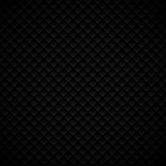 Diseño de patrón de cuadrados geométricos de lujo abstracto negro