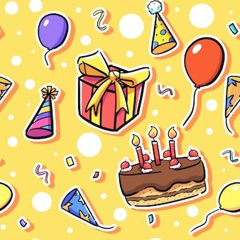 Diseño de patrón de cumpleaños