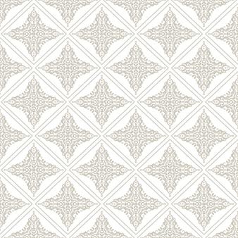 Diseño de patrón decorativo de azulejos sin costura
