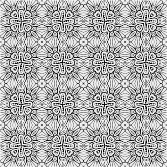 Diseño de patrón decorativo en blanco y negro con estilo abstracto