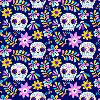 Diseño del patrón del día de los muertos