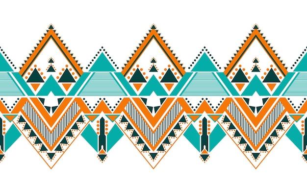 Diseño de patrón étnico geométrico para fondo transparente.
