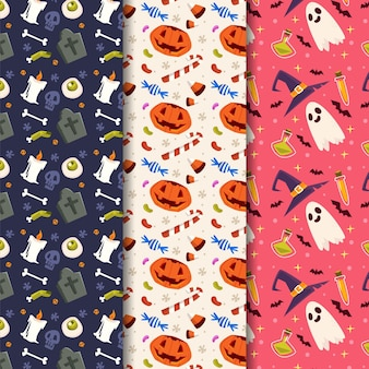 Diseño de patrón de festival de halloween