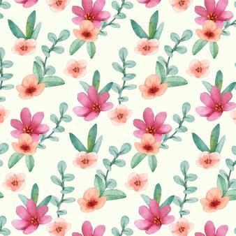 Diseño de patrón floral acuarela abstracta
