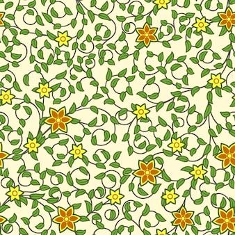 Diseño de patrón de flores