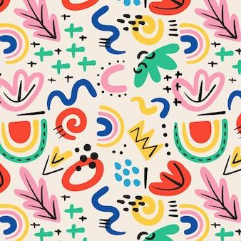 Diseño de patrón de formas abstractas