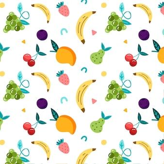 Diseño de patrón de frutas