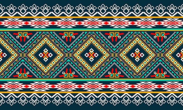 Diseño de patrón geométrico étnico abstracto para fondo o papel tapiz.