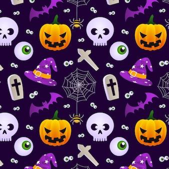 Diseño de patrón de halloween degradado