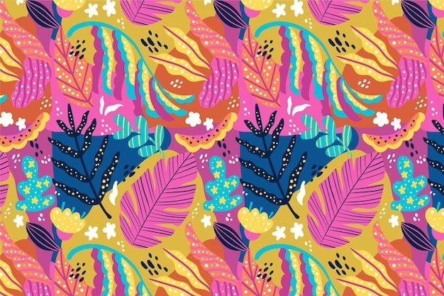 Diseño de patrón de hojas abstractas dibujadas a mano