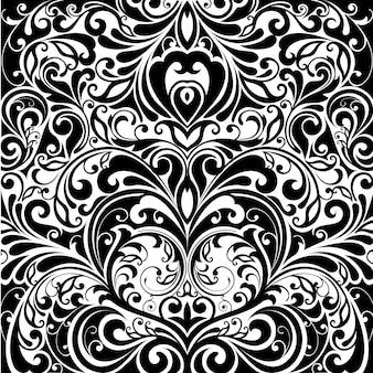 Diseño de patrón de hojas