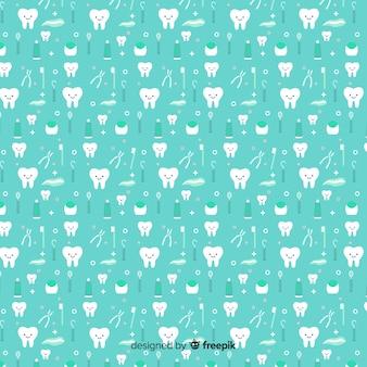 Diseño de patrón infinito para dentistas