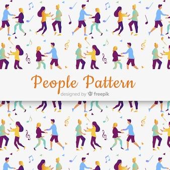 Diseño de patrón infinito con personas