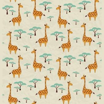 Diseño de patrón de jirafas