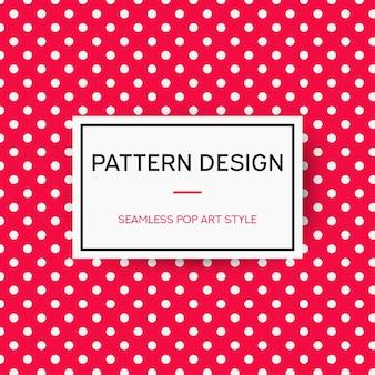 Diseño de patrón manchado rojo