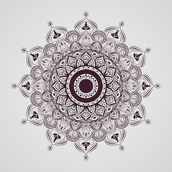 Diseño de patrón de mandala islámico ornamental